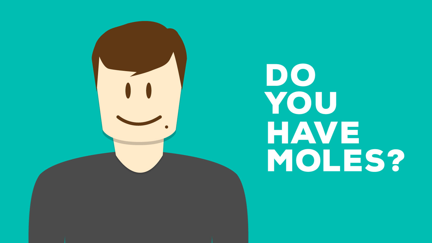 do you have moles